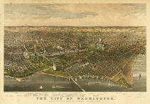 Washington 1880c Bird's Eye View 17x24, Washington 1880c Bird's Eye View
